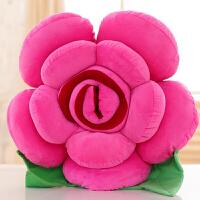 大号仿真玫瑰花抱枕沙发靠背垫创意花朵卡通毛绒玩具婚庆床头枕头 玫