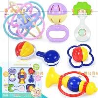 婴儿玩具0-1岁摇铃玩具宝宝手摇铃铛3-6-12个月牙胶摇铃套装 体验版 加厚加大摇铃5件套 精美礼盒装+小清晰曼哈