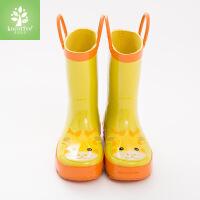 KK树新款儿童雨鞋男童女童雨鞋橡胶小孩雨靴中筒水鞋 30 内长20cm