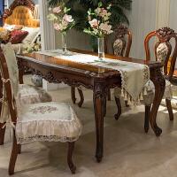 欧式餐椅垫坐垫防滑餐桌布艺套装四季定做餐椅套凳罩桌旗 花香
