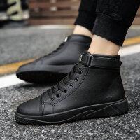 冬季韩版潮流休闲高帮板鞋青少年男士潮鞋红色个性百搭社会男鞋