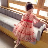 女童公主裙女孩裙子夏装儿童裙中大童连衣裙