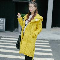 韩版中长款羽绒服女斗篷型年冬季新款连帽保暖外套 A7071黑色