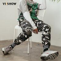 VIISHOW2018新款休闲裤男 迷彩宽松青年长裤子春季新款学生长裤