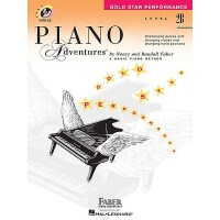英文原版 菲伯尔钢琴基础教程(2B级):星光曲集 Piano Adventures: Level 2B: Gold S