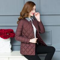 女士小棉衣短款秋冬装新款韩版修身薄款中年轻薄棉袄外套