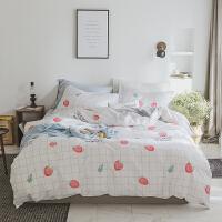 床上四件套棉简约床单被套夏季家纺宿舍学生单人网红ins 小仙女