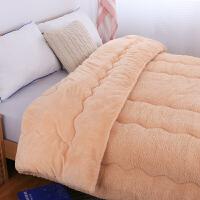 双面羊羔绒被子加厚棉被芯学生宿舍冬被保暖单人羊羔毛被子太空被