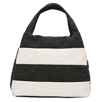 简约拼色帆布包女韩版休闲女士手提包购物袋式百搭女包文艺范小包