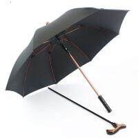 拐杖伞 可调节老人拐杖伞大长柄手杖礼品伞多功能防滑登山雨伞结实拐�E伞 拐杖伞
