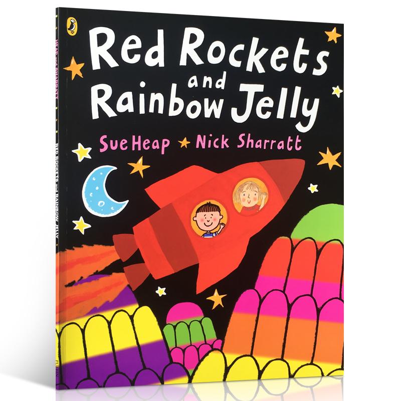 吴敏兰推荐英文原版书单(3-6岁)#42 RED ROCKETS AND RAINBOW JELLY 虽然彼此对颜色的喜好不同,但却有个共同喜欢的东西 Nick Sharratt家长们推荐的经典有趣书知名绘者,色彩丰富明亮,版面清晰,创造出如同嘉年华般的热闹缤纷