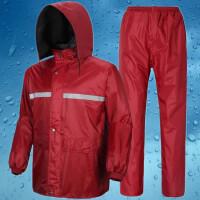 加厚双层摩托车雨衣雨裤套装男女士分体骑行雨衣套装钓鱼防水