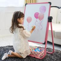 儿童画板小黑板支架式家用画架可升降双面磁性涂鸦板写字白板宝宝