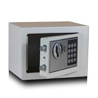 桌面储蓄盒带锁收纳铁盒小型投币保险箱零钱保管箱密码盒储蓄罐 白色 不投币
