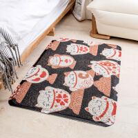 招财猫入门地垫 圈丝除尘门垫入户蹭脚垫卧室卫生间防滑垫