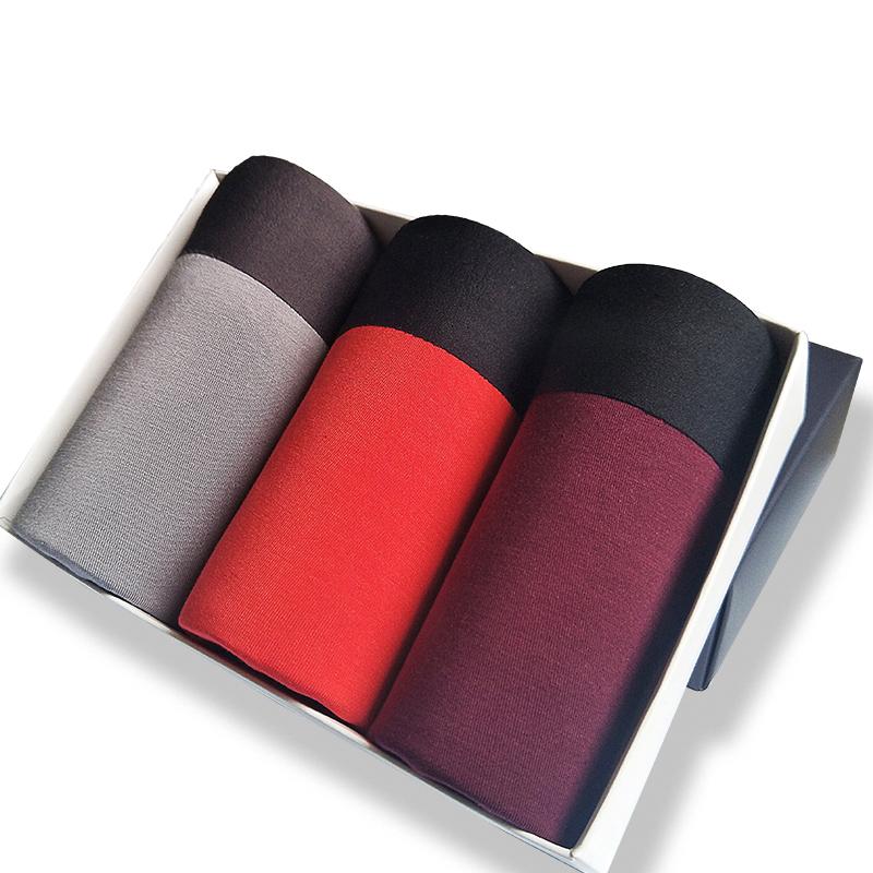 2018新款3条装男士兰精莫代尔内裤棉质面料无痕平角中腰透气四角裤头  XXX 发货周期:一般在付款后2-90天左右发货,具体发货时间请以与客服协商的时间为准