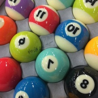星牌中式黑八英式斯诺克水晶台球子 十六彩九球桌球余生