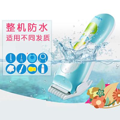 婴儿理发器超静音防水剃头儿童电推剪充电新生宝宝家用理发器 y2l 默认发(HK85II+*包)需其它款联系客服