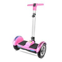 小孩平衡车带扶手 两轮自平衡电动扭扭车智能漂移体感思维代步车儿童双轮平衡车HW 36V