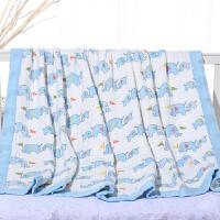 婴儿夏凉毯宝宝四层纱布空调儿童幼儿园午睡毛巾被竹纤维夏季