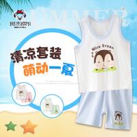 宝宝短袖套装夏季纯棉小孩婴儿衣服小童儿童夏装男女童短裤