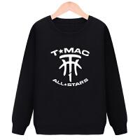 麦迪卫衣男女圆领长袖外套 麦迪1号篮球运动休闲衣服 黑色 圆领卫衣麦迪OGO