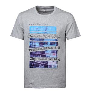 沃特运动T恤男圆领上衣短袖套头衫修身透气吸汗速干春夏季运动服