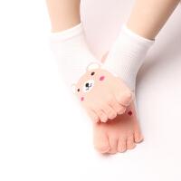 儿童棉袜子五指袜男童女童夏季薄款网眼宝宝短袜儿童棉袜