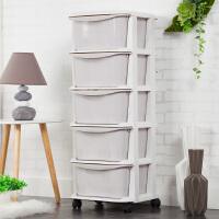 加厚抽屉式收纳柜玩具收纳盒整理柜儿童衣柜储物柜子塑料收纳箱