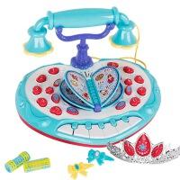 儿童早教冰雪公主多功能中英文学习电话机女孩过家家玩具皇冠发夹音乐琴键