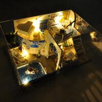 diy小屋别墅 遇见地中海手工房子模型拼装玩具男女生创意生日礼物