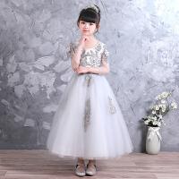 儿童公主裙蓬蓬纱女孩白纱裙生日晚礼服钢琴演出服夏季