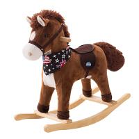 摇摇马儿童摇马1-4岁宝宝礼物毛绒木马实木带音乐宝宝摇椅玩具车