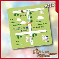 定制婚庆结婚婚礼商务个性手绘卡通地图路线图线路图设计绘制制作