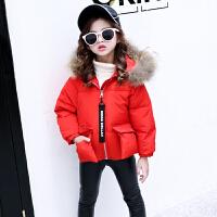 儿童2018新款韩版洋气短款毛领棉衣中大童冬季外套女孩