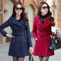 中年少妇女装毛呢外套女冬装中长款冬天外出服30收腰35到40岁50岁