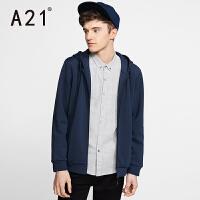 以纯A21男士新款冬季外套加绒长袖潮流风衣男学生青年休闲外套男秋冬