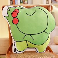 旅行的青蛙周边抱枕旅游青蛙玩偶办公室午睡枕靠垫毛绒玩具公仔崽