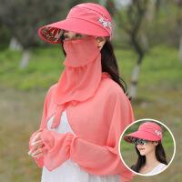 夏季防晒面罩全脸防紫外线女户外骑行装备遮阳护脸蒙面口罩头套帽SN2345