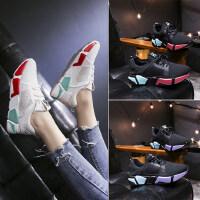户外时尚女鞋透气网面网鞋休闲厚底运动鞋韩版百搭平底单鞋