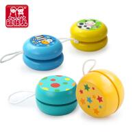 yoyo悠悠球 宝宝小孩玩具木制儿童溜溜球木质彩色