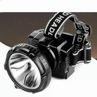 LED强光远射头灯5W充电锂电钓鱼灯矿工头戴户外探照灯 黑色