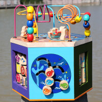 男孩宝宝益智儿童积木玩具 0-1-2-3周岁男女孩子力宝宝启蒙早教婴儿可啃咬兼容乐高 海洋大绕珠(60首音乐)