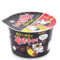 韩国进口三养超辣火鸡拌面桶装105g 碗装方便面鸡肉味拉面炒面