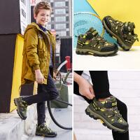 彼得潘男童童鞋2018冬季新款儿童户外登山鞋男童鞋中大童运动鞋潮P571