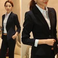 黑色短款小西装春秋新款韩版修身显瘦女装长袖职业小西服外套