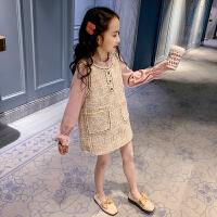 女童休闲套装裙大童小香风时髦两件套