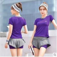 运动套装女跑步长裤显瘦休闲瑜伽服女瑜伽服健身房三件套速干短袖上衣背心支持礼品卡支付