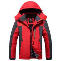 新款 羊羔毛保暖时尚男装户外登山服冲锋衣棉衣 X