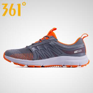 361度男鞋跑步鞋网面透气休闲鞋 男士减震耐磨运动鞋学生防滑跑鞋